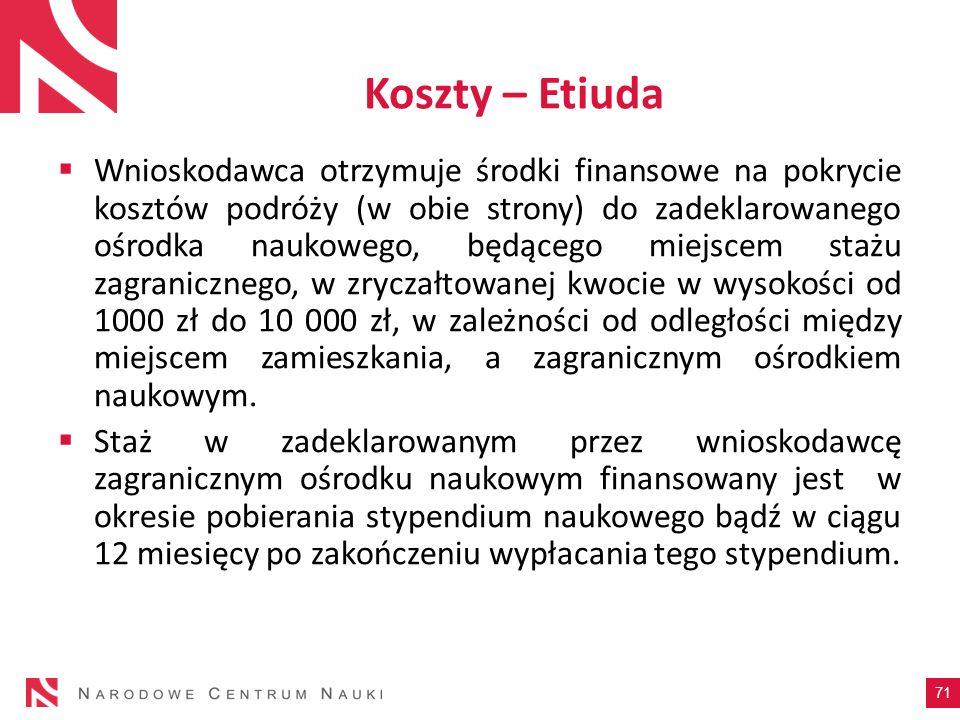 Koszty – Etiuda