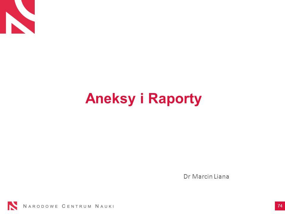 Aneksy i Raporty Dr Marcin Liana