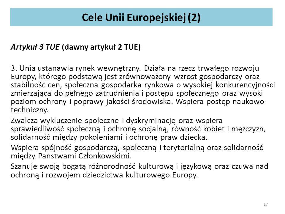 Cele Unii Europejskiej (2)