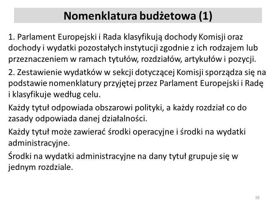 Nomenklatura budżetowa (1)