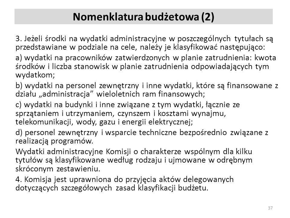 Nomenklatura budżetowa (2)