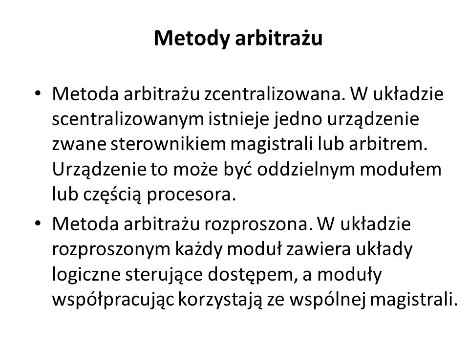 Metody arbitrażu