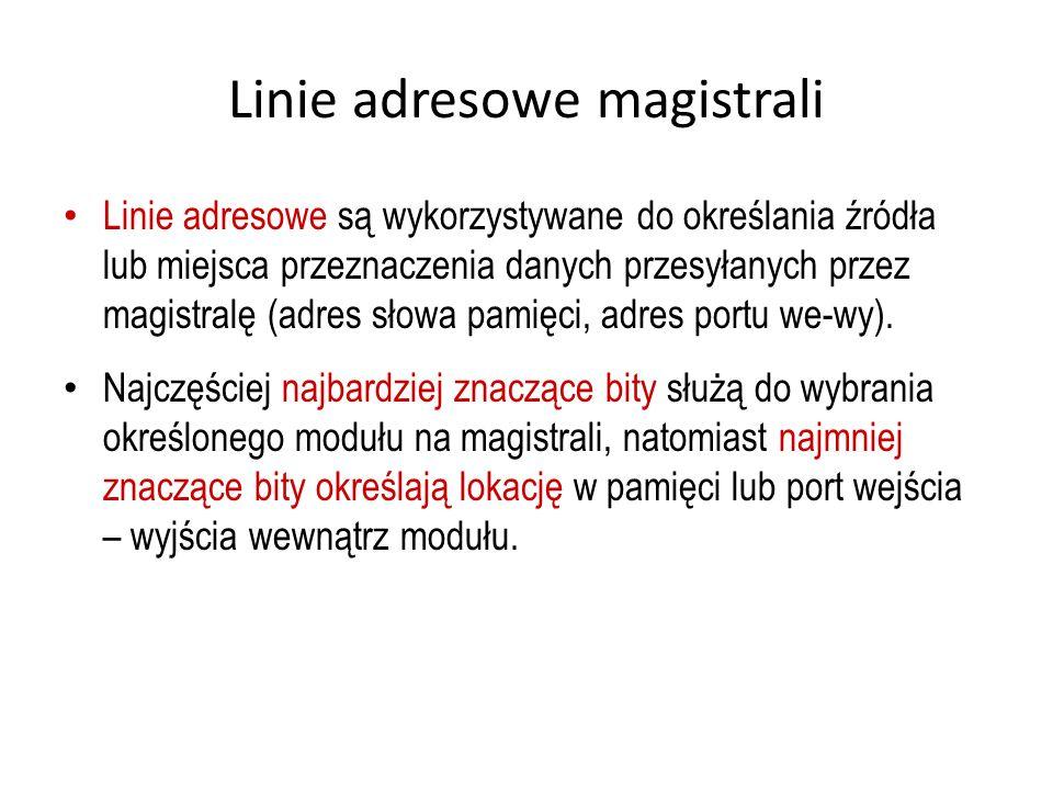 Linie adresowe magistrali
