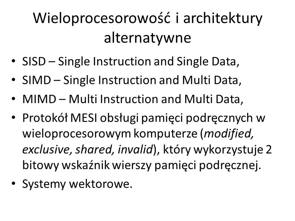 Wieloprocesorowość i architektury alternatywne