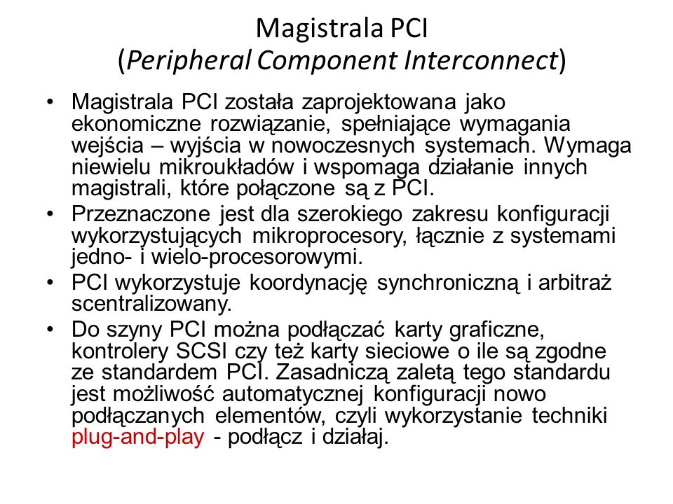 Magistrala PCI (Peripheral Component Interconnect)