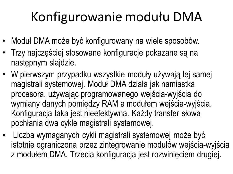Konfigurowanie modułu DMA