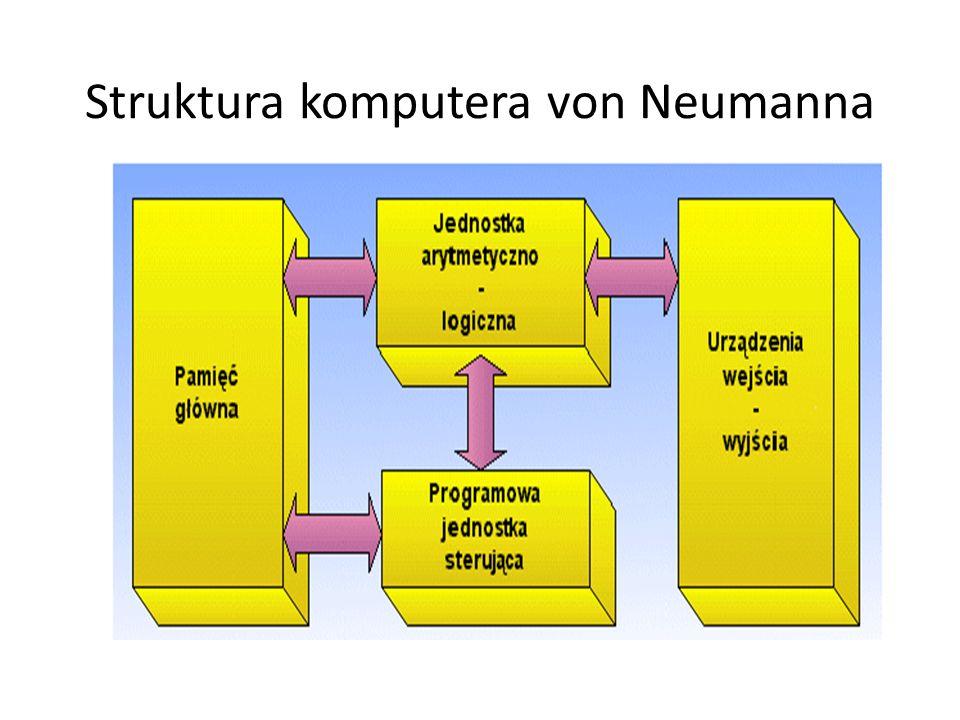 Struktura komputera von Neumanna
