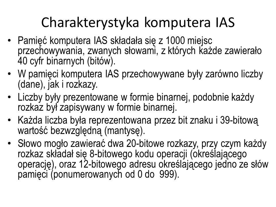 Charakterystyka komputera IAS