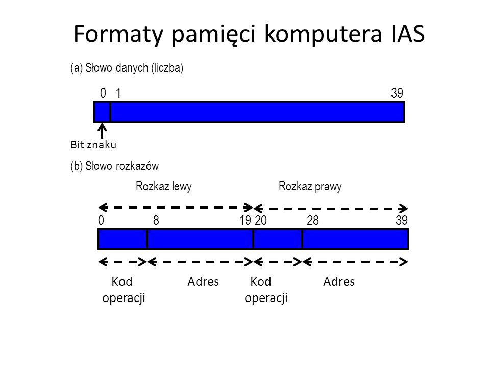 Formaty pamięci komputera IAS
