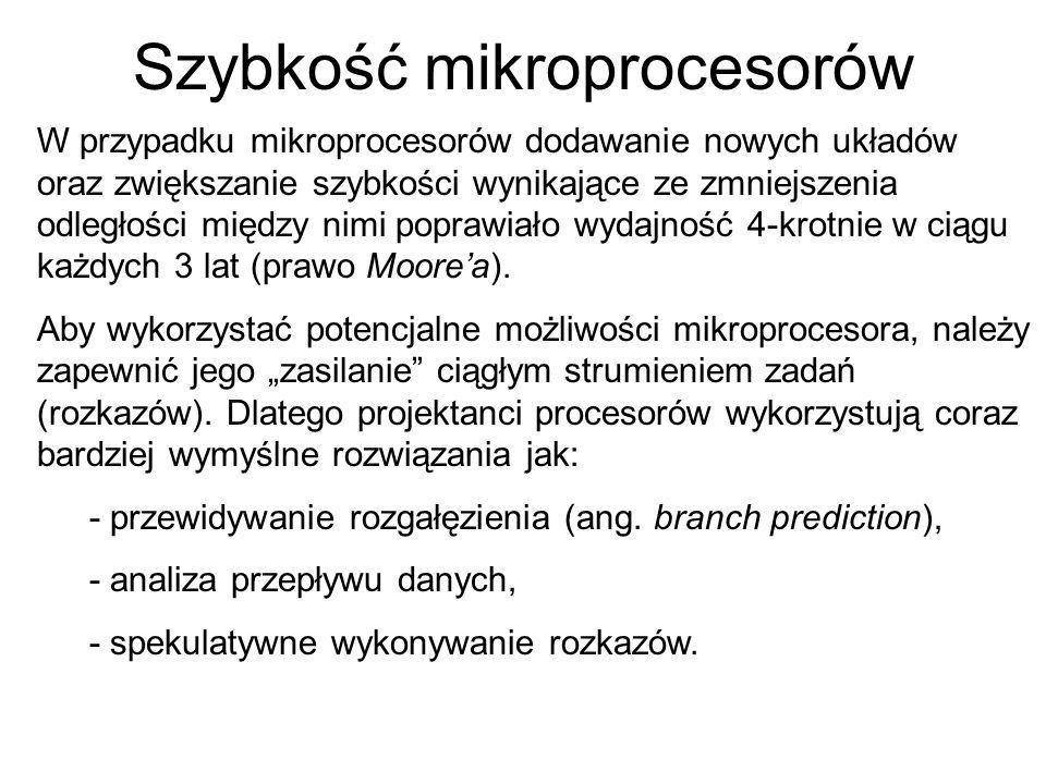 Szybkość mikroprocesorów
