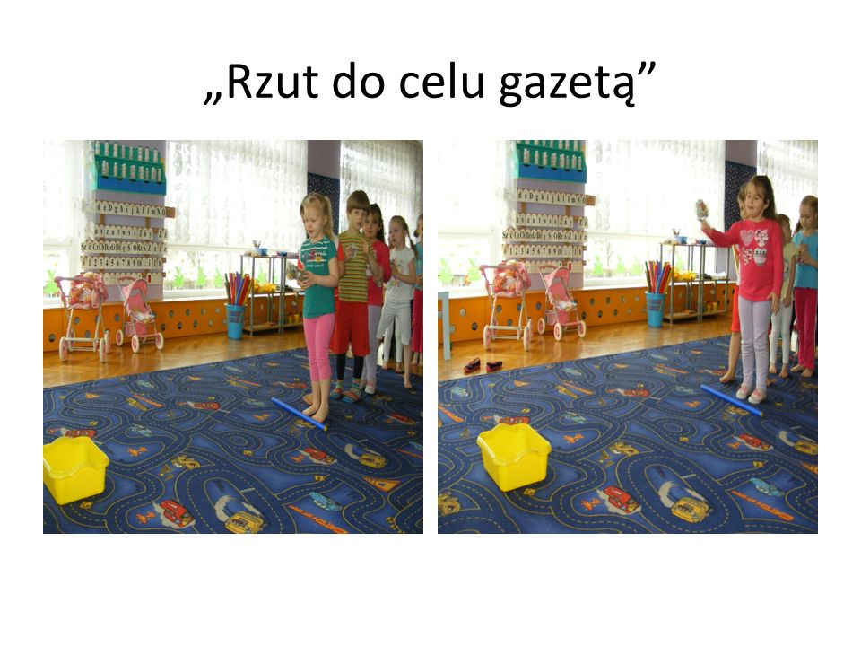 """Rzut do celu gazetą"