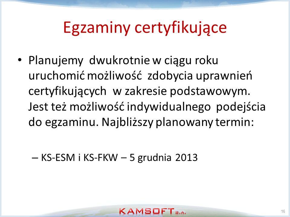 Egzaminy certyfikujące