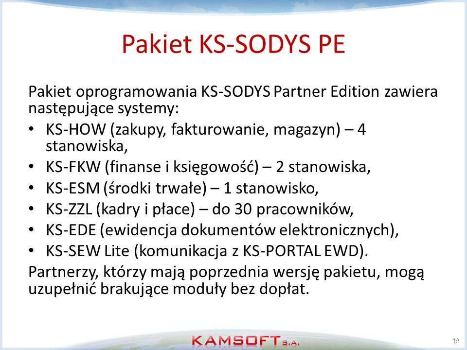 Pakiet KS-SODYS PE Pakiet oprogramowania KS-SODYS Partner Edition zawiera następujące systemy: