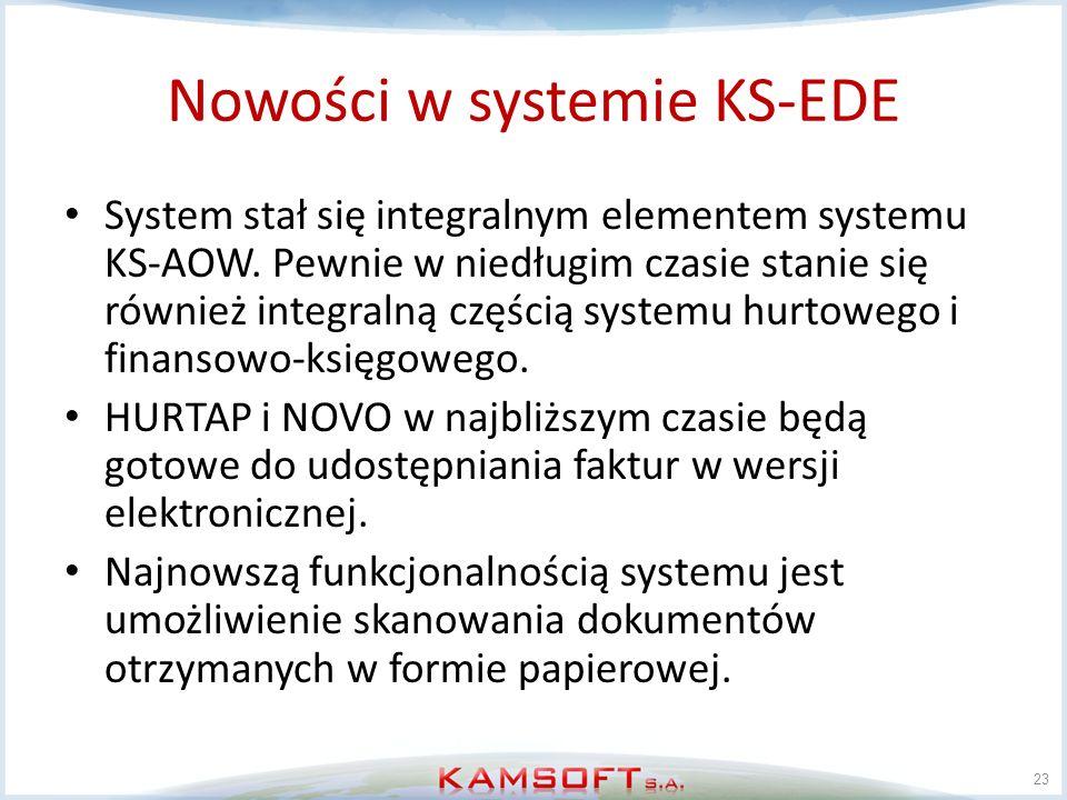 Nowości w systemie KS-EDE
