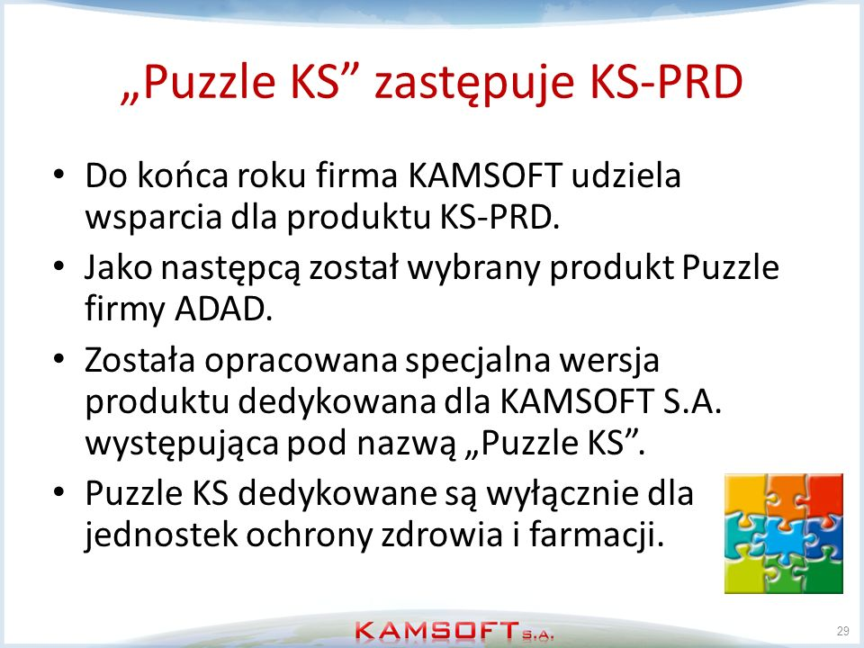 """""""Puzzle KS zastępuje KS-PRD"""