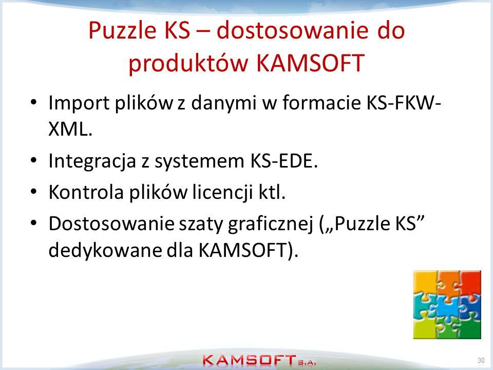 Puzzle KS – dostosowanie do produktów KAMSOFT