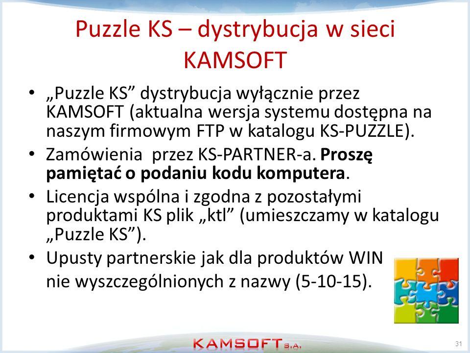 Puzzle KS – dystrybucja w sieci KAMSOFT