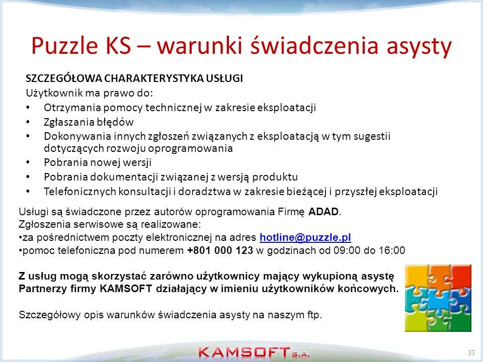 Puzzle KS – warunki świadczenia asysty