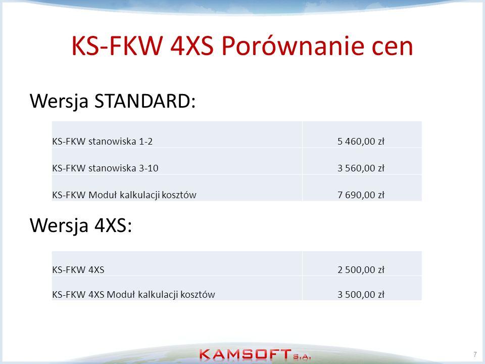 KS-FKW 4XS Porównanie cen