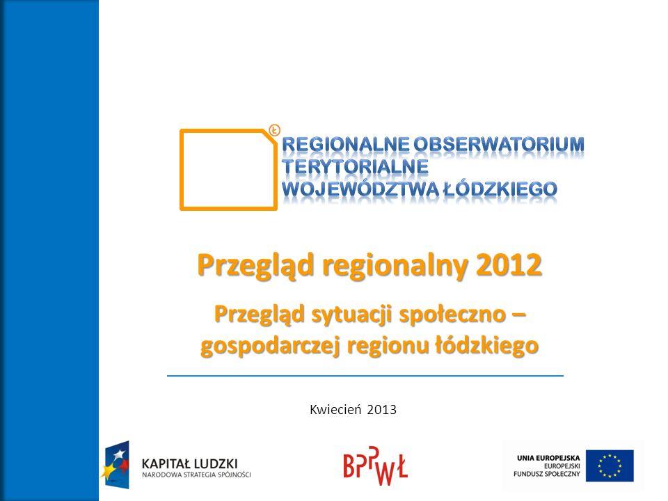 Przegląd sytuacji społeczno – gospodarczej regionu łódzkiego