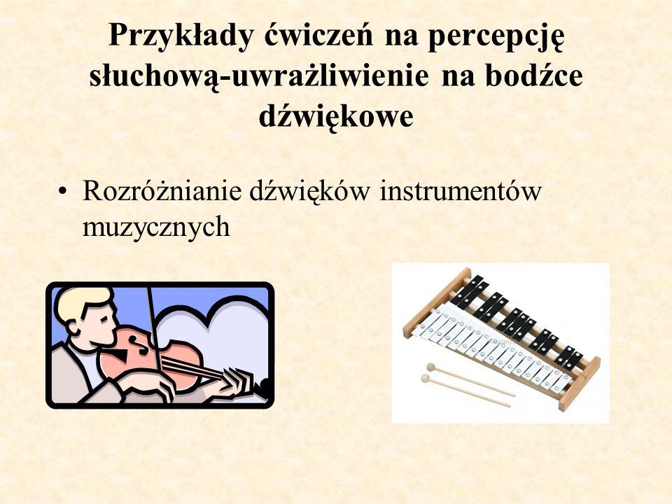 Przykłady ćwiczeń na percepcję słuchową-uwrażliwienie na bodźce dźwiękowe