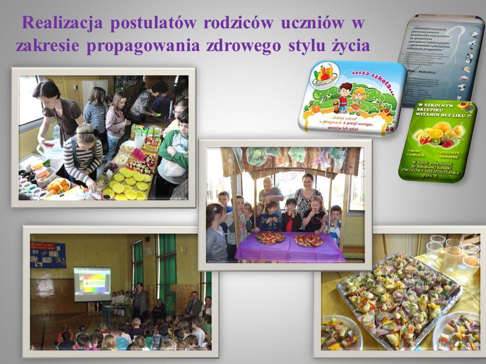 Realizacja postulatów rodziców uczniów w zakresie propagowania zdrowego stylu życia