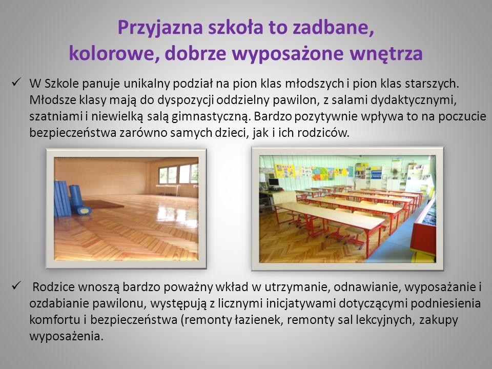Przyjazna szkoła to zadbane, kolorowe, dobrze wyposażone wnętrza