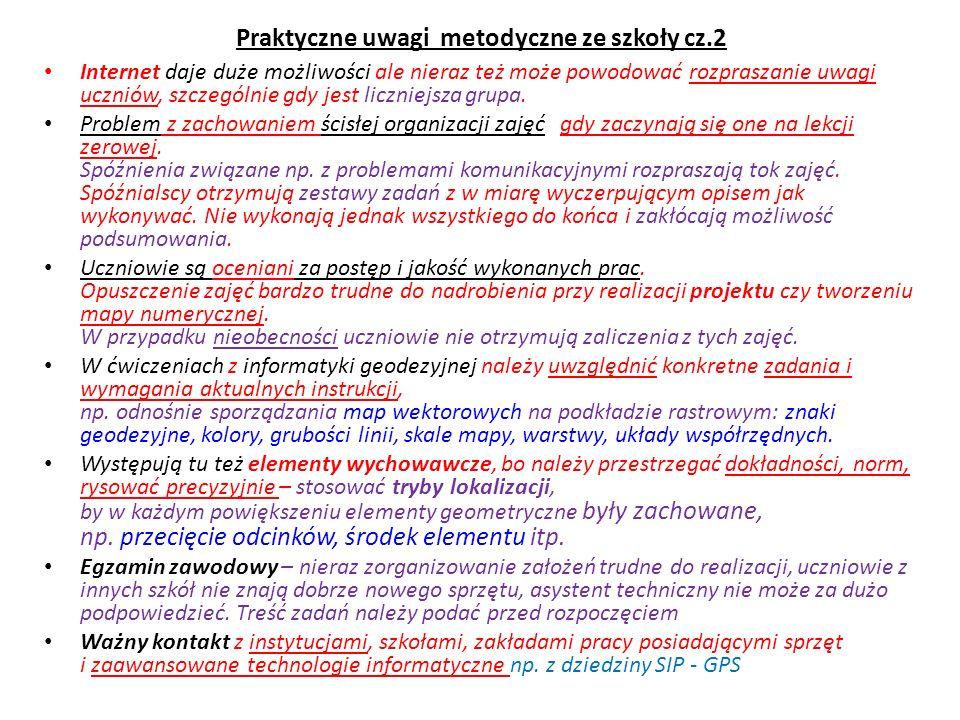 Praktyczne uwagi metodyczne ze szkoły cz.2