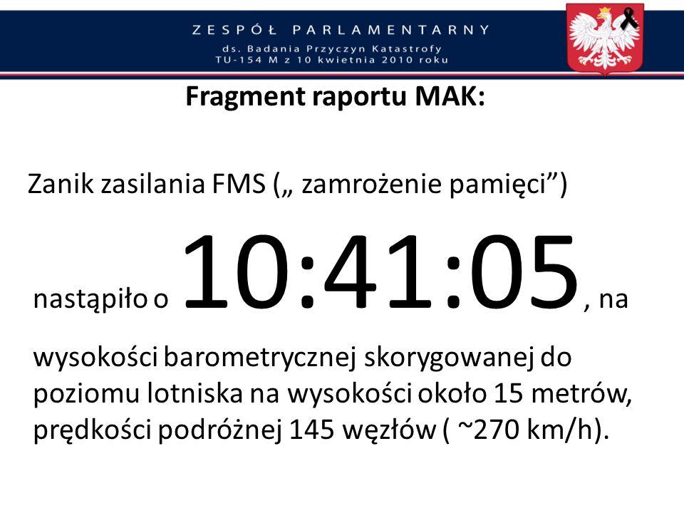 Fragment raportu MAK: