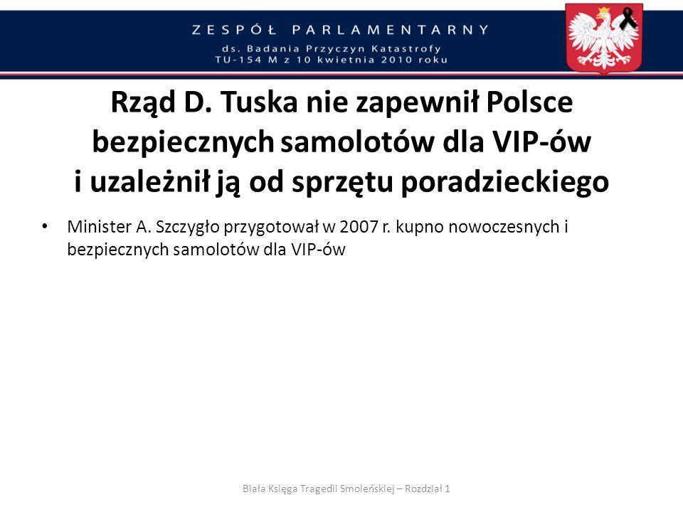 Biała Księga Tragedii Smoleńskiej – Rozdział 1
