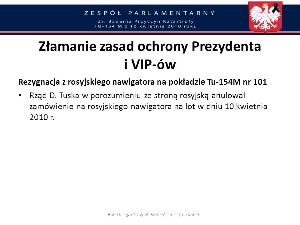 Złamanie zasad ochrony Prezydenta i VIP-ów