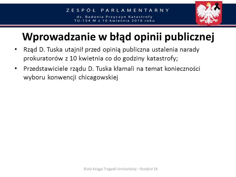 Wprowadzanie w błąd opinii publicznej