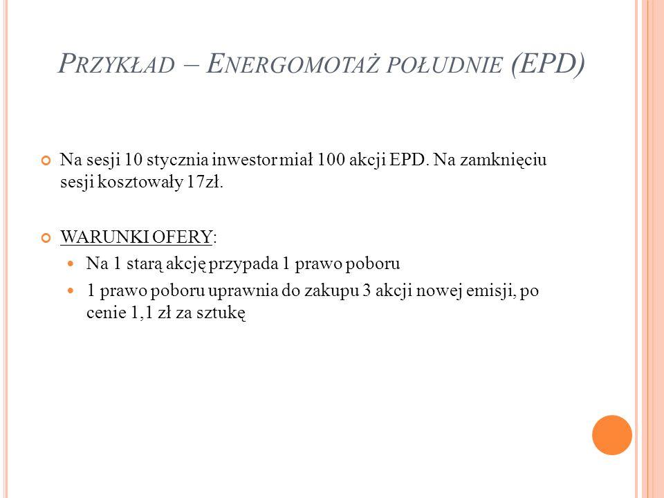Przykład – Energomotaż południe (EPD)