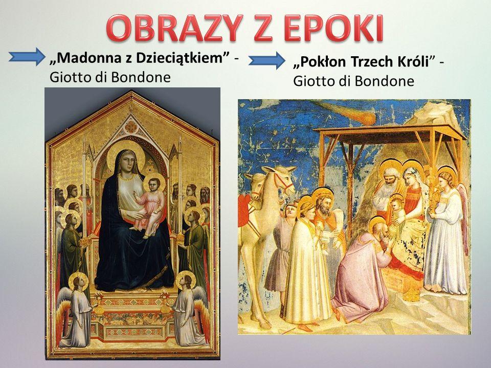 """OBRAZY Z EPOKI """"Madonna z Dzieciątkiem - Giotto di Bondone"""