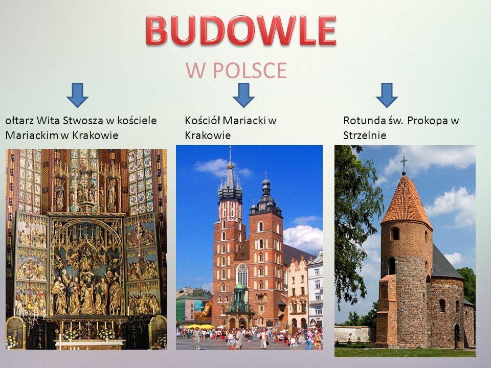 BUDOWLE W POLSCE ołtarz Wita Stwosza w kościele Mariackim w Krakowie