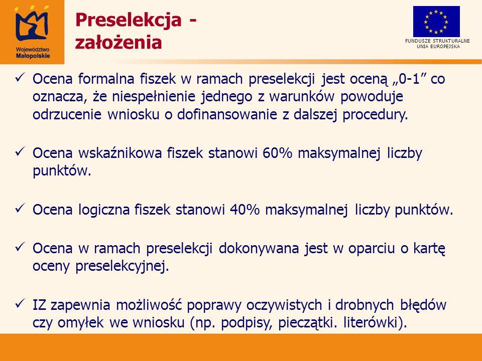 Preselekcja - założenia