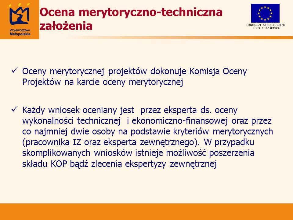 Ocena merytoryczno-techniczna założenia