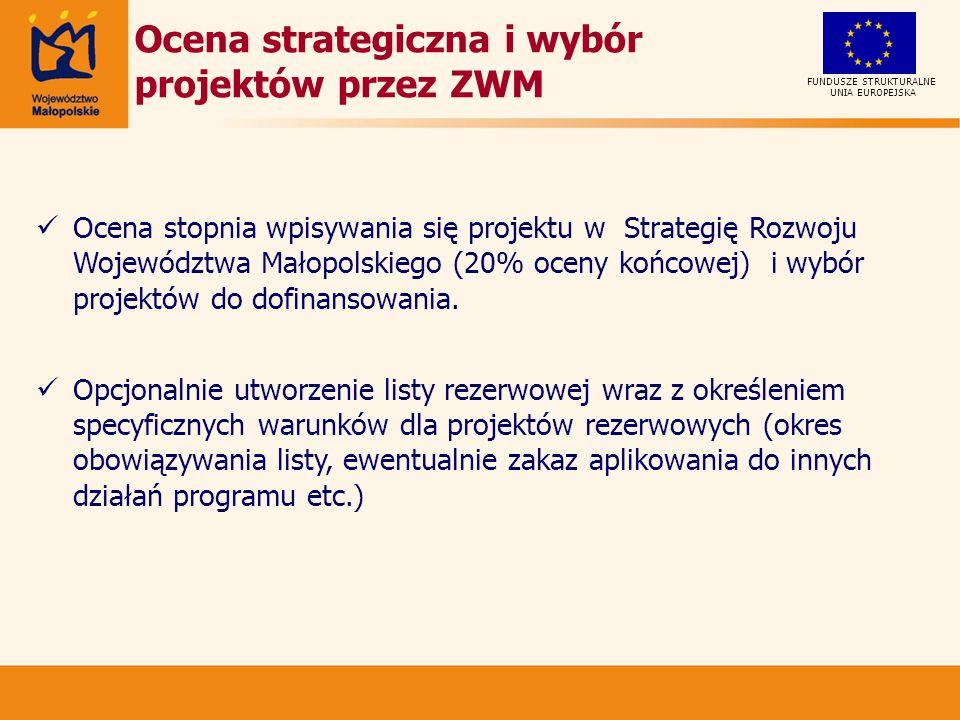 Ocena strategiczna i wybór projektów przez ZWM