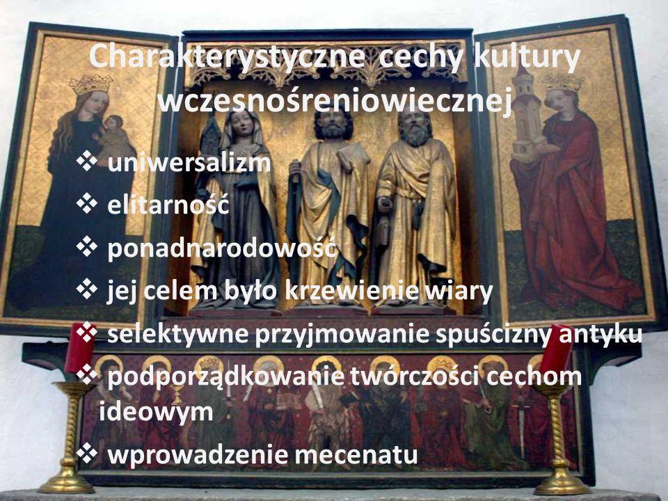 Charakterystyczne cechy kultury wczesnośreniowiecznej