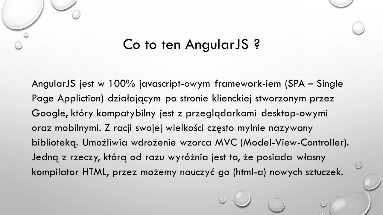Co to ten AngularJS