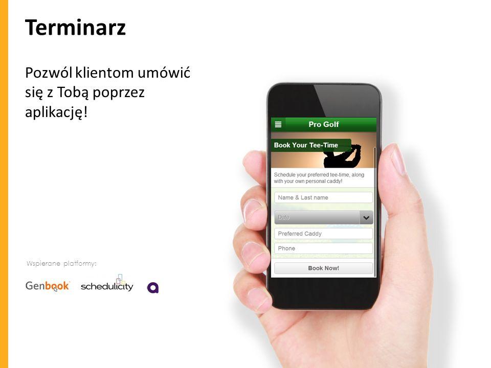 Terminarz Pozwól klientom umówić się z Tobą poprzez aplikację!