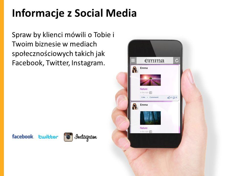 Informacje z Social Media