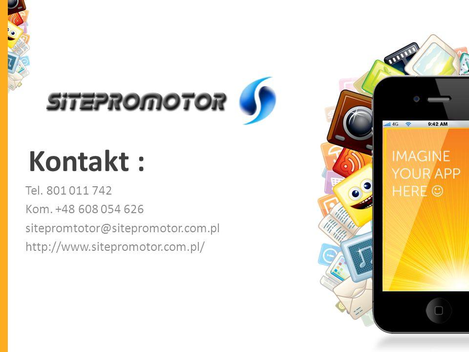 Kontakt : Tel. 801 011 742. Kom. +48 608 054 626.