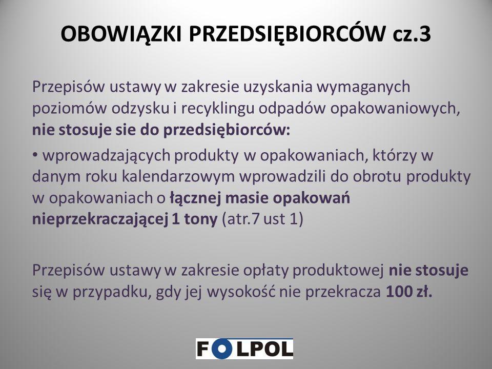 OBOWIĄZKI PRZEDSIĘBIORCÓW cz.3