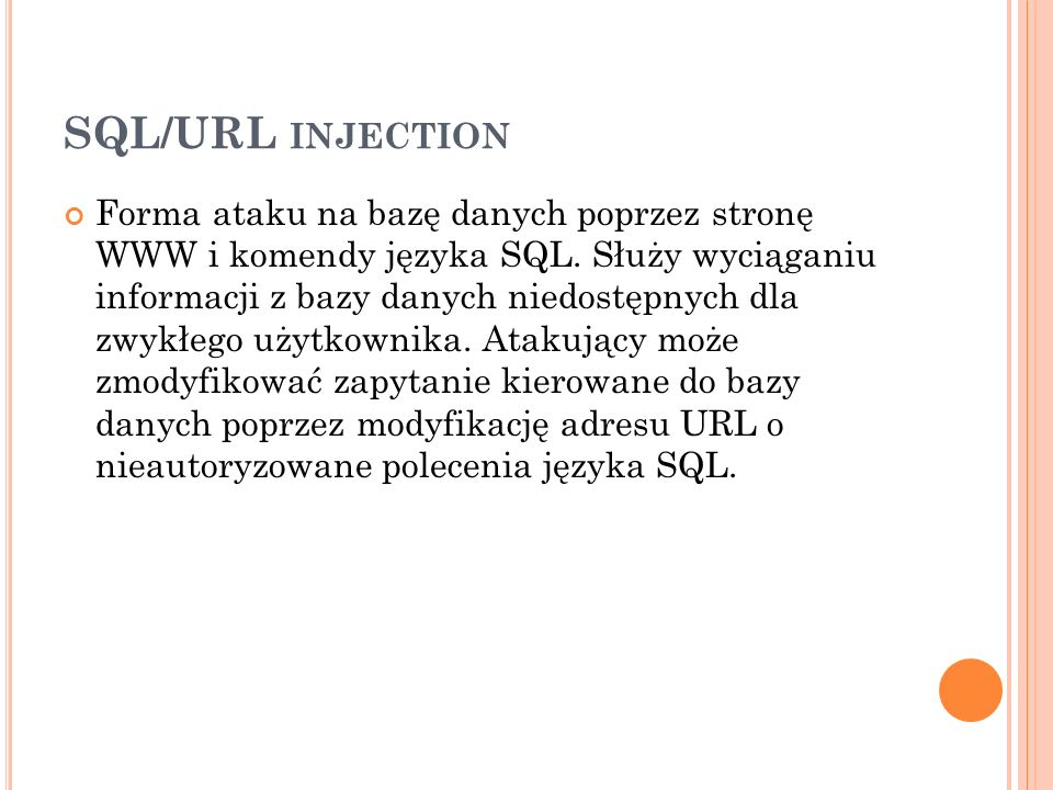 SQL/URL injection