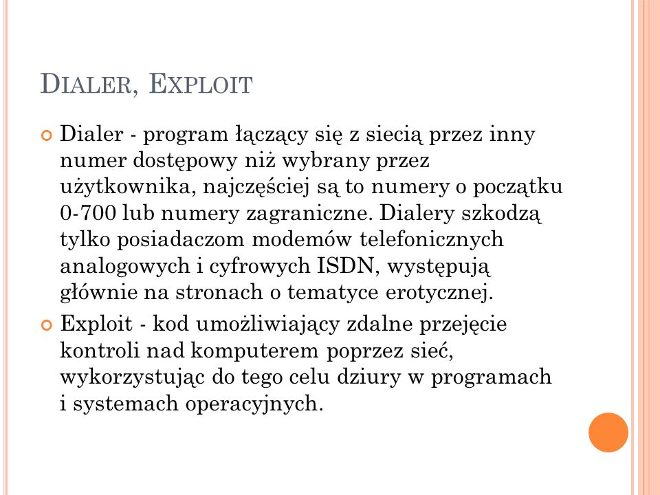 Dialer, Exploit