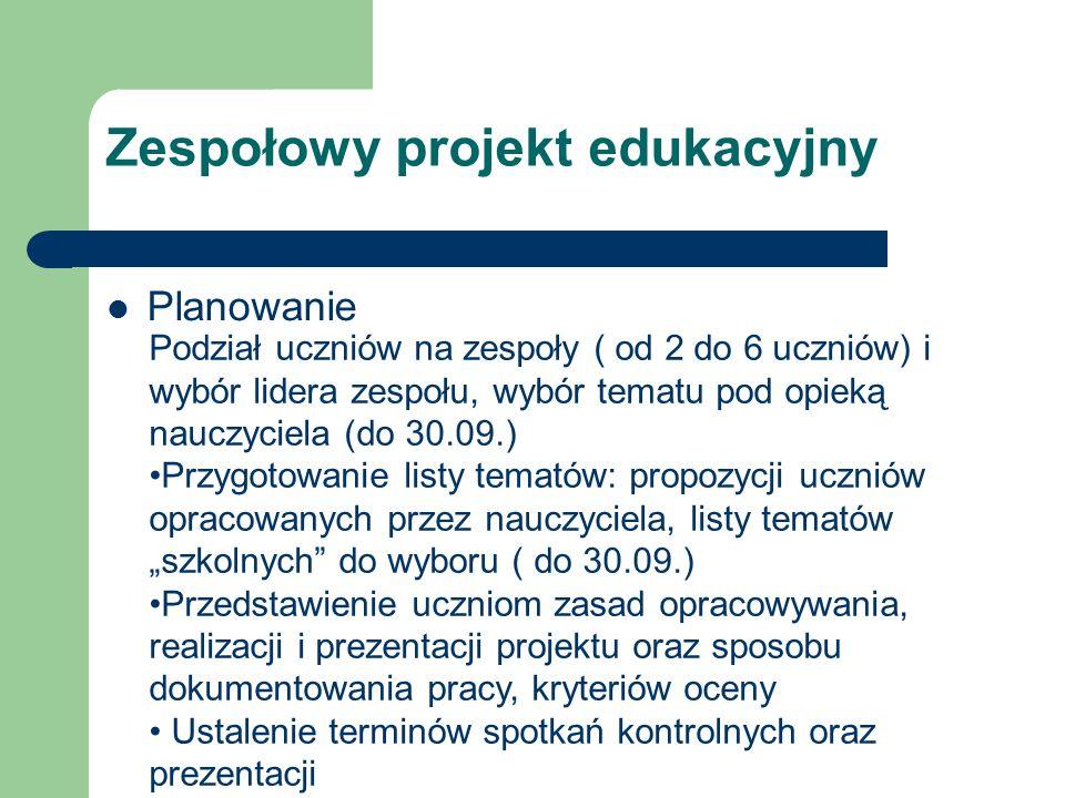Zespołowy projekt edukacyjny