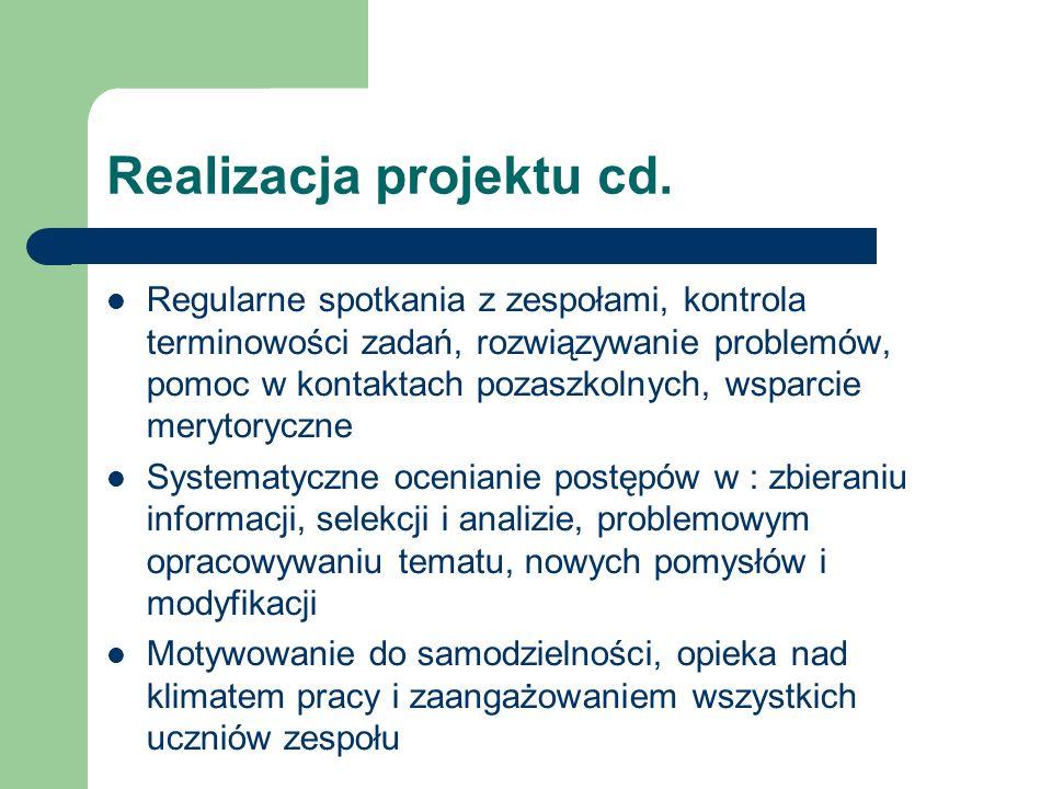 Realizacja projektu cd.