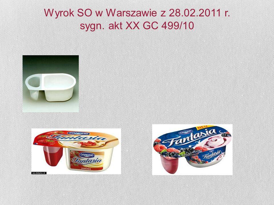 Wyrok SO w Warszawie z 28.02.2011 r. sygn. akt XX GC 499/10