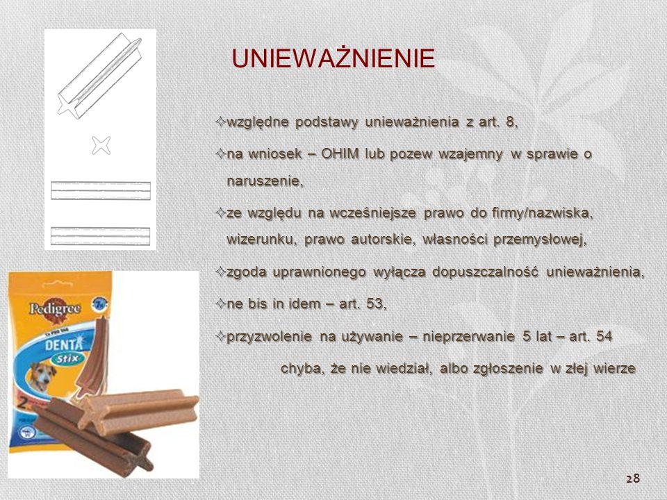 UNIEWAŻNIENIE względne podstawy unieważnienia z art. 8,
